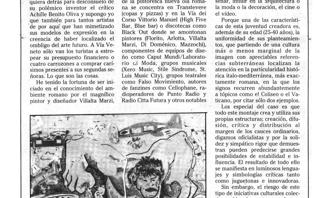 Anni 80 a Roma. Esteban Villalta Marzi